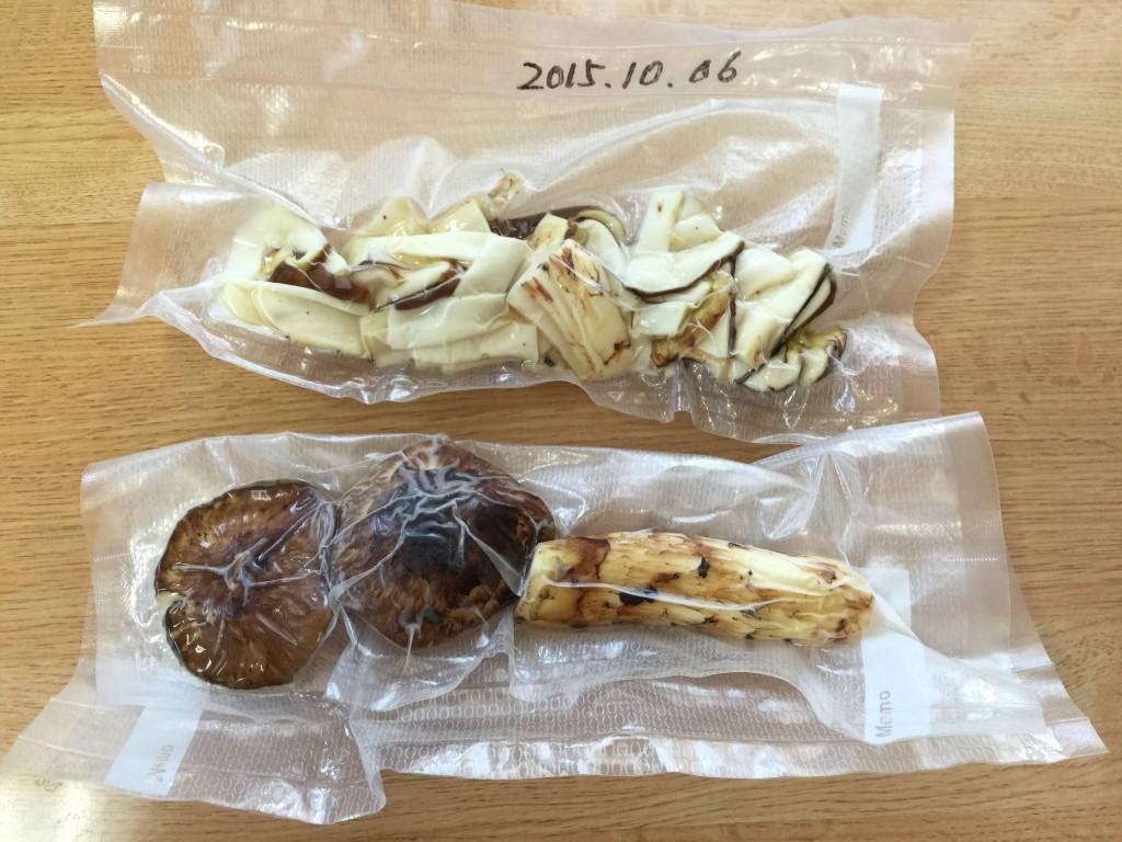 松茸を真空パック保存して1年後も保てた風味と食感(動画有)