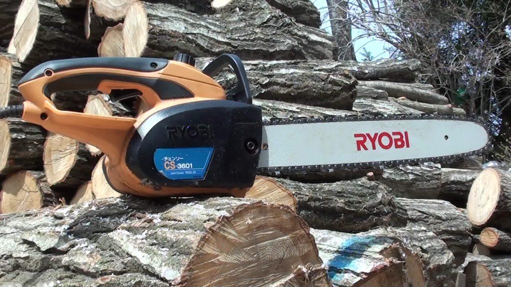 RYOBIの電動チェーンソーCS-3601は静かで使える(動画有)