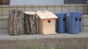 いろいろな巣箱