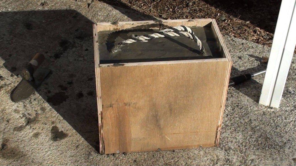 少量のコンクリートでウエイト(重り)を作る:配合と練り方