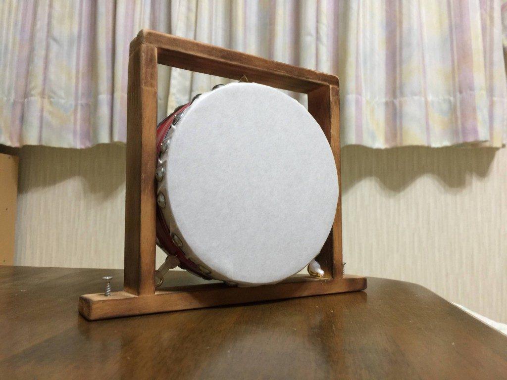 太鼓を安価に自作する方法(動画有)