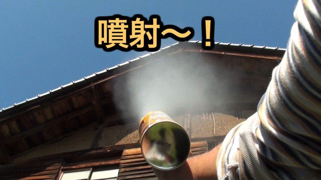 悪い虫!ハチアブマグナムジェットでスズメバチを駆除 害虫退治