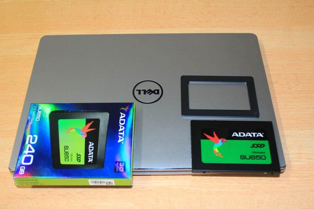 DELLのノートパソコンにSSDを追加装備でデュアル仕様に