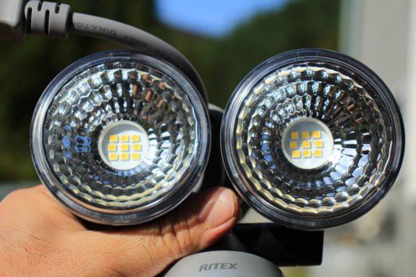 【明るい】防犯用LEDセンサーライトならACコンセント2灯