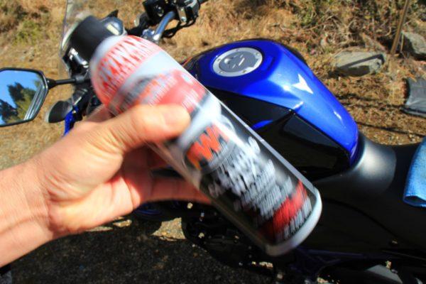 バイクの油汚れ落としとワックスがけにオススメのFW1でピッカピカ