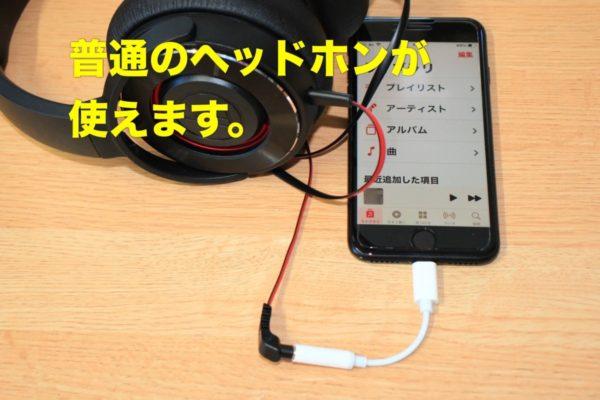 iPhponeのライトニング端子をステレオミニプラグに変換するケーブル